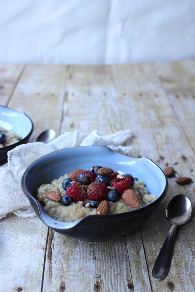 Berry Almond Quinoa Porridge